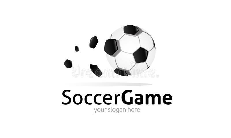Soccer Game Logo royalty free illustration