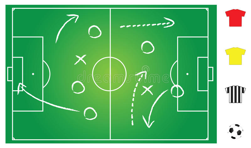Download Soccer game play stock vector. Image of competition, goal - 14299213