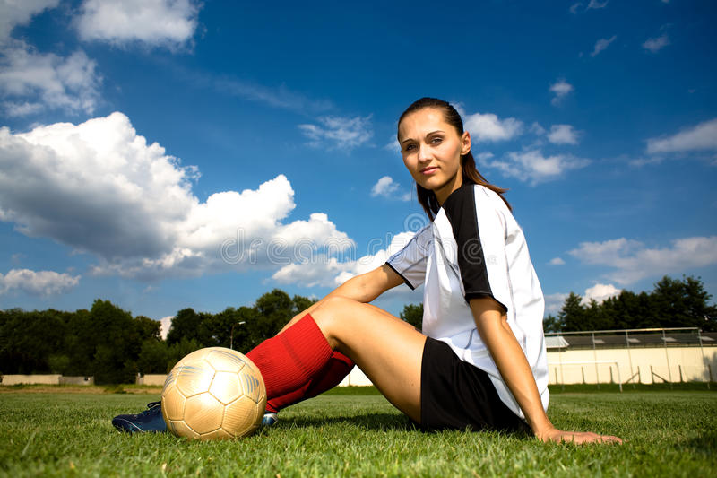 Soccer girl royalty free stock photo
