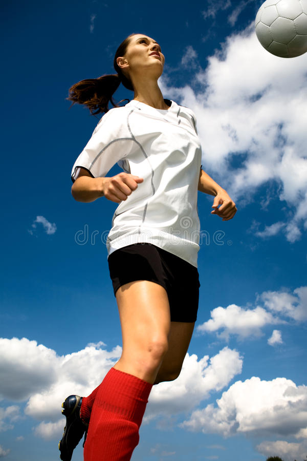 Download Soccer girl stock image. Image of person, human, sports - 10547887