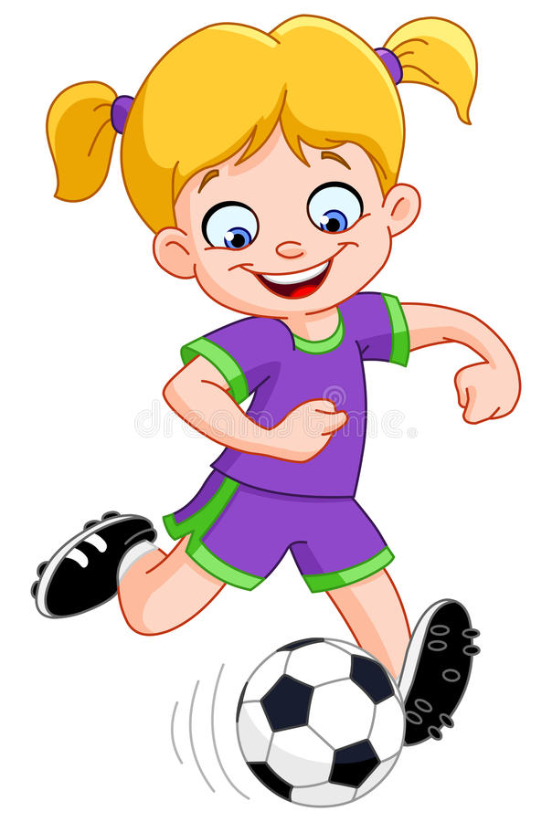 Download Soccer girl stock vector. Image of cartoon, painting - 21464310
