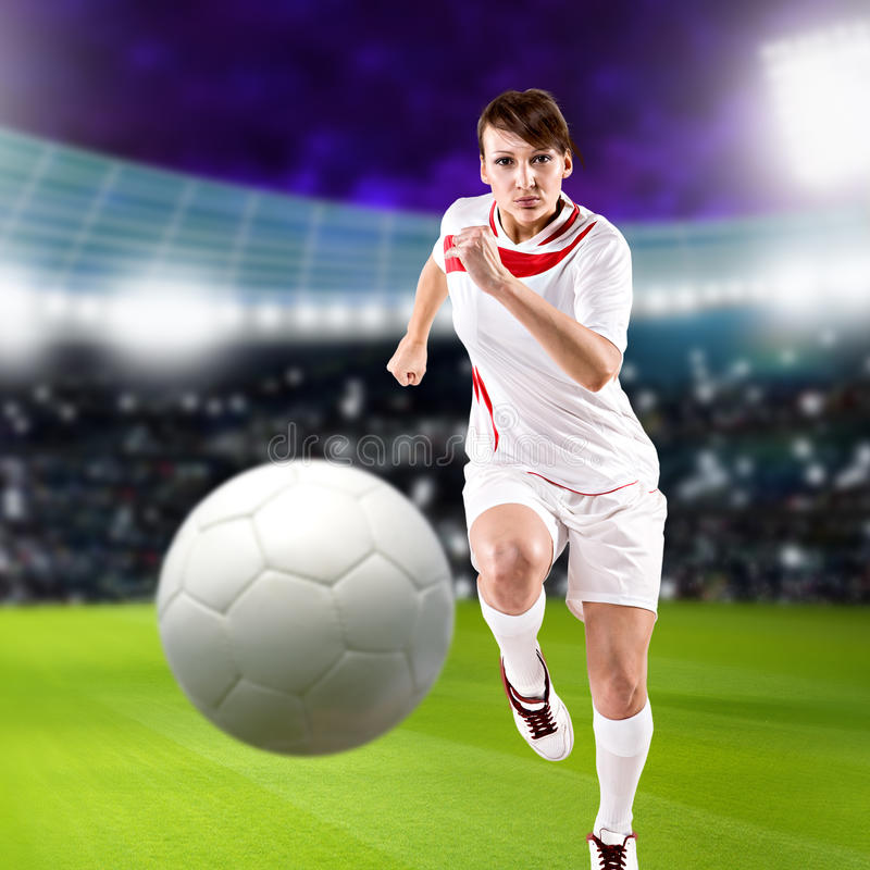 Download Soccer girl stock image. Image of human, soccer, person - 27305705