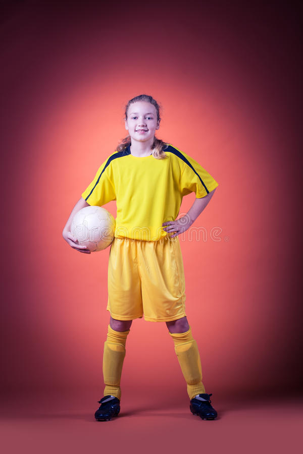 Download Soccer girl stock photo. Image of photography, girl, playing - 27425906