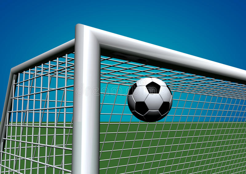 Soccer goal. Illustration of soccer goal and ball vector illustration