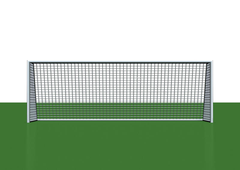Soccer goal. 3d image-Illustration of soccer goal stock illustration