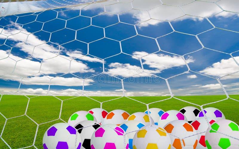 Soccer goal stock illustration