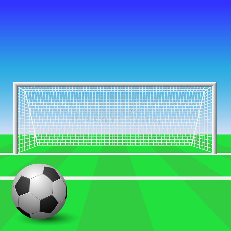 Soccer Goal. A Soccer Goal with Ball royalty free illustration