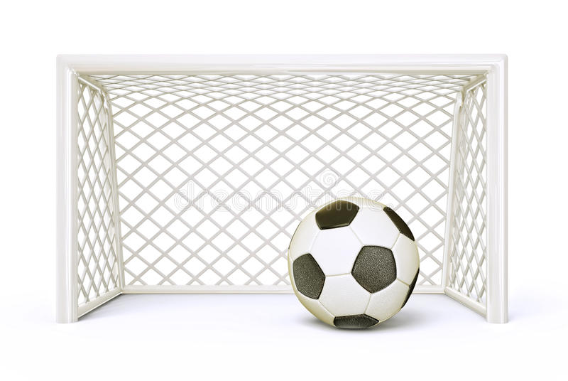Soccer goal. Isolated on a white background royalty free illustration