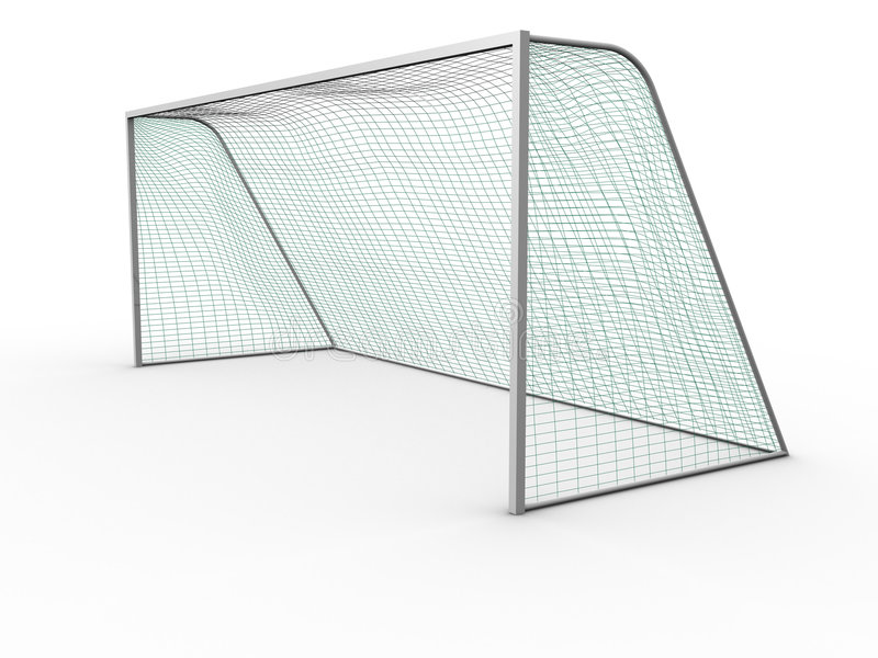 Soccer goal. 3d image of a soccer goal royalty free illustration