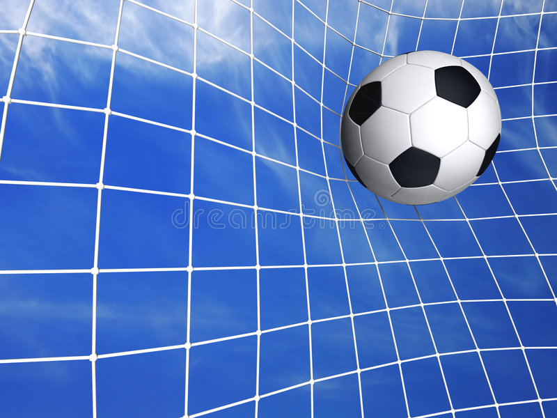 Soccer goal. 3d render vector illustration