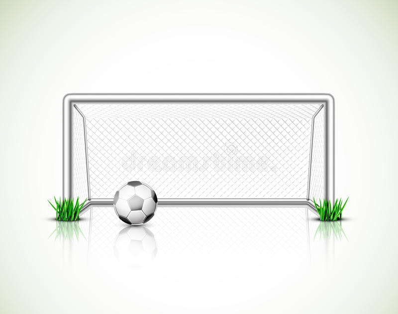 Soccer goal and ball. Eps 10 vector illustration