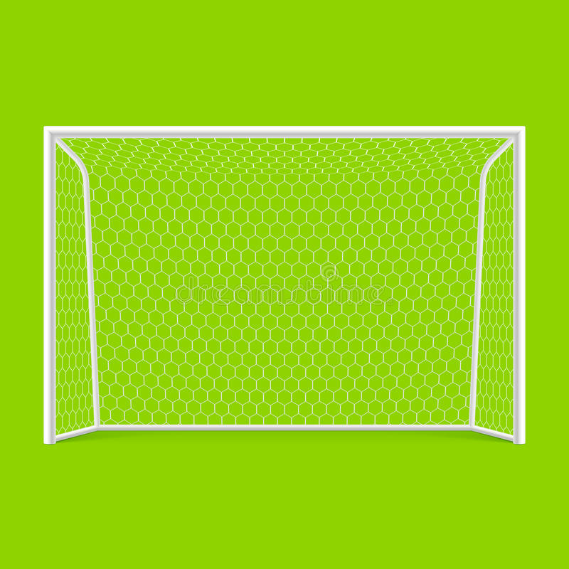 Download Soccer goal front view stock vector. Image of sport, pitch - 24620347