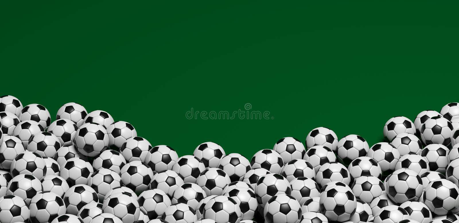 Soccer goal in green background. And alpha channel royalty free illustration
