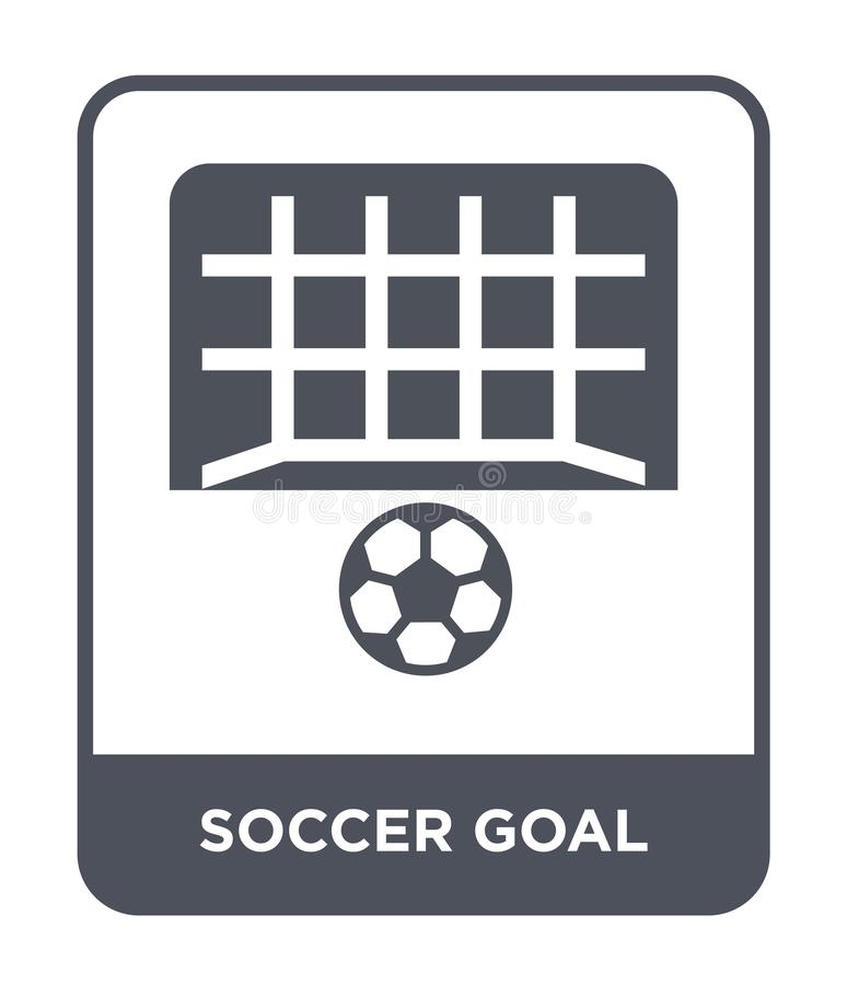 Soccer goal icon in trendy design style. soccer goal icon isolated on white background. soccer goal vector icon simple and modern. Flat symbol for web site vector illustration