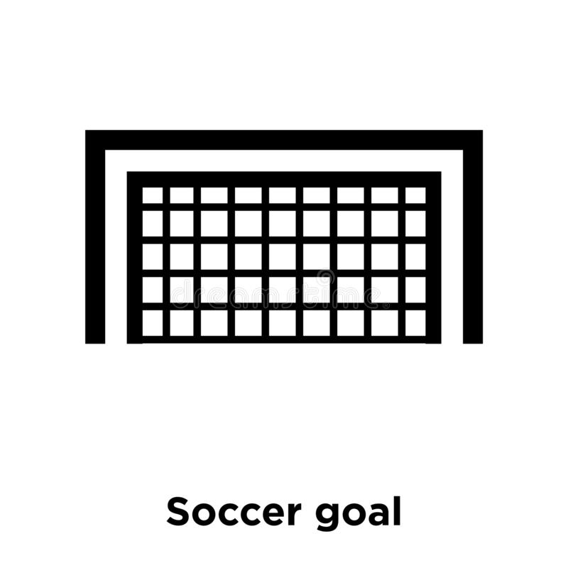 Soccer goal icon vector isolated on white background, logo concept of Soccer goal sign on transparent background, black filled. Soccer goal icon vector isolated stock illustration
