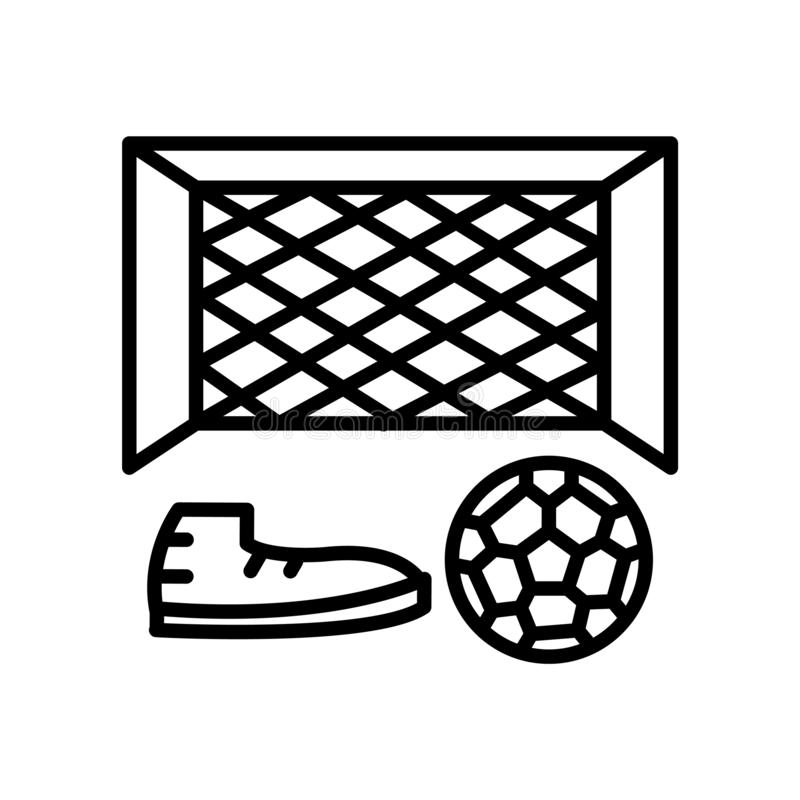 Soccer goal icon vector isolated on white background, Soccer goal sign , line or linear sign, element design in outline style. Soccer goal icon vector isolated vector illustration