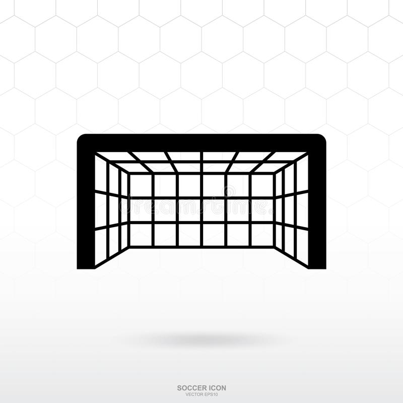 Soccer goal and net icon. Soccer football sport sign and symbol. Soccer goal and net icon. Soccer football sport sign and symbol for template design. Vector vector illustration