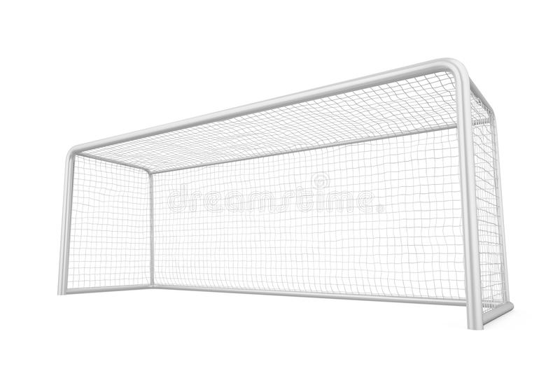 Soccer Goal Post Isolated. On white background. 3D render royalty free illustration
