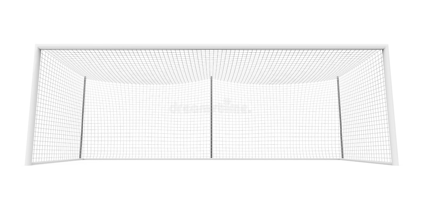 Soccer Goal Post Isolated. On white background. 3D render vector illustration