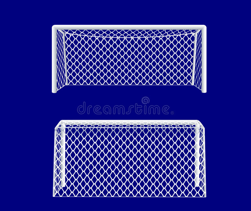 Soccer goal from side. Vector illustration vector illustration