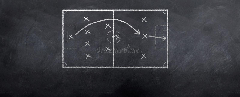 Soccer Goal Strategy royalty free illustration