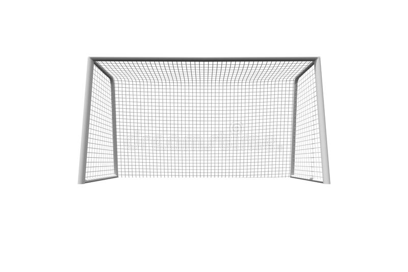 Soccer goal. On white background royalty free illustration