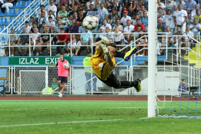 Soccer goalkeeper royalty free stock image