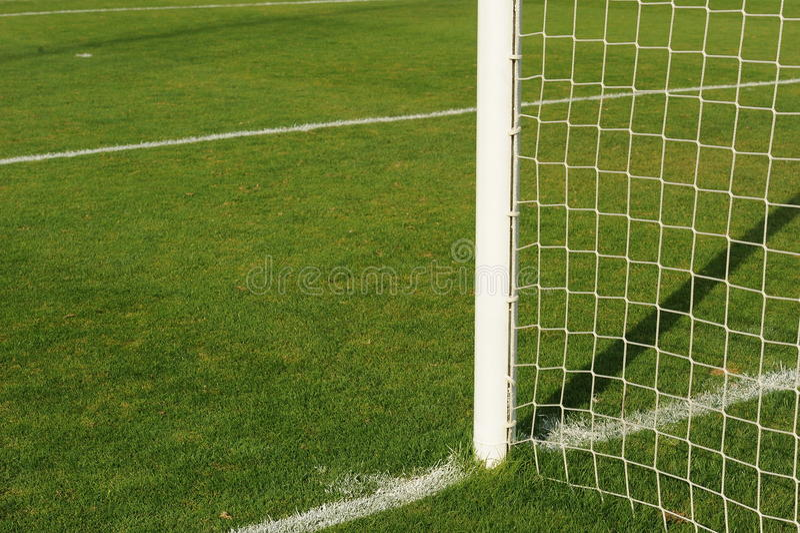 Soccer goalpost royalty free stock photography