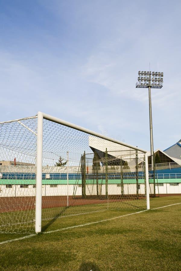 Soccer goalpost stock images