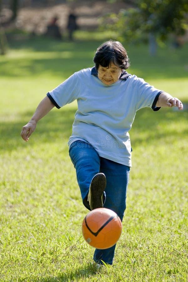 Free Soccer Granny Stock Photography - 11266712