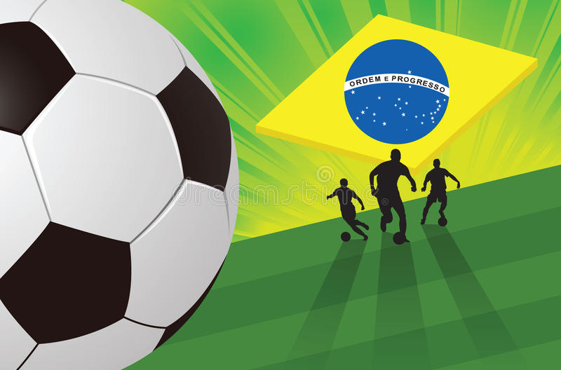 Soccer Green Background royalty free stock images