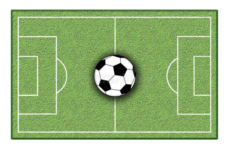 Soccer ground. Digital illustration of a soccer ground stock illustration