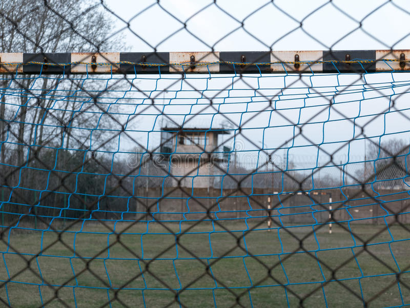 Soccer grounds royalty free stock photography
