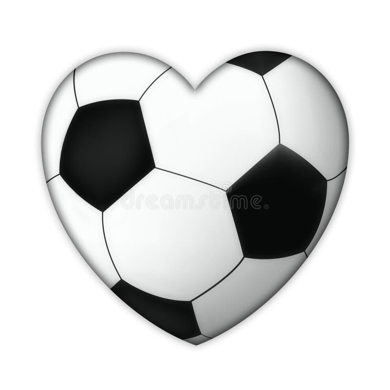 Soccer heart stock photo