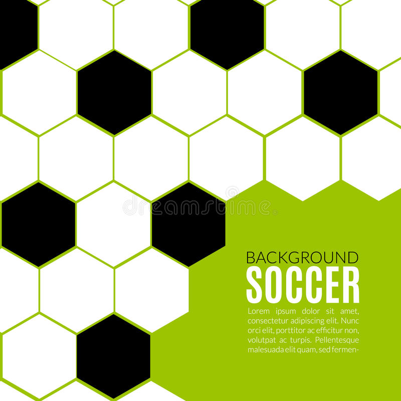 Download Soccer Hexagonal Background Design Template. Stock Vector    Illustration Of Object, Dimensional: