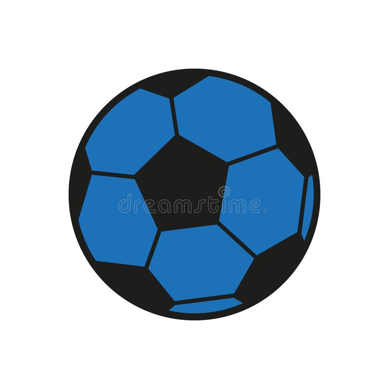 Soccer Icon - Black And Blue Vector Illustration - Isolated On White Background vector illustration