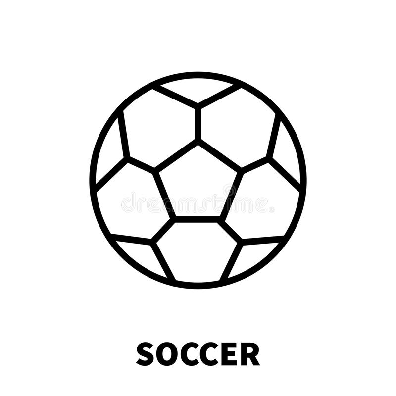 Soccer icon or logo in modern line style. stock illustration