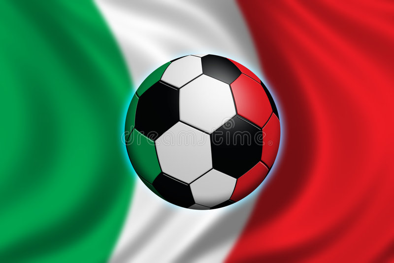 Soccer in Italy vector illustration