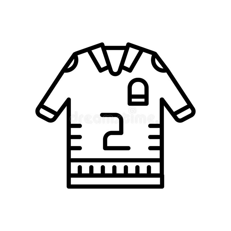 Football Jersey Linear Icon  Modern Outline Football Jersey