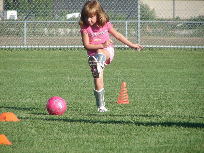 Soccer Kick stock photography