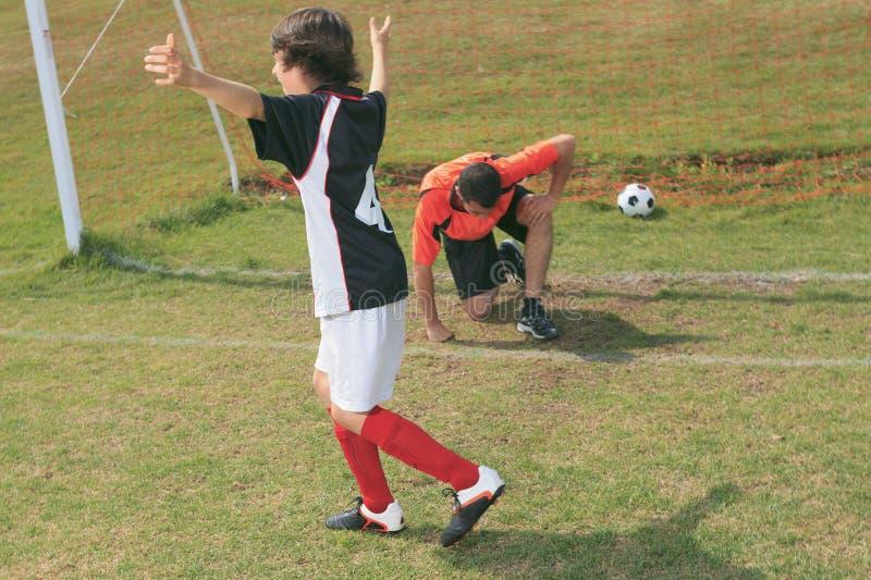 Soccer kid royalty free stock image