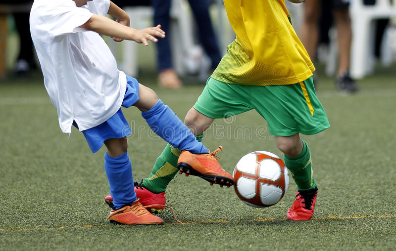Soccer kids stock image
