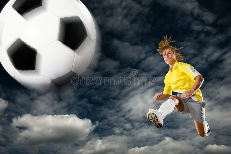Soccer lady royalty free stock photo