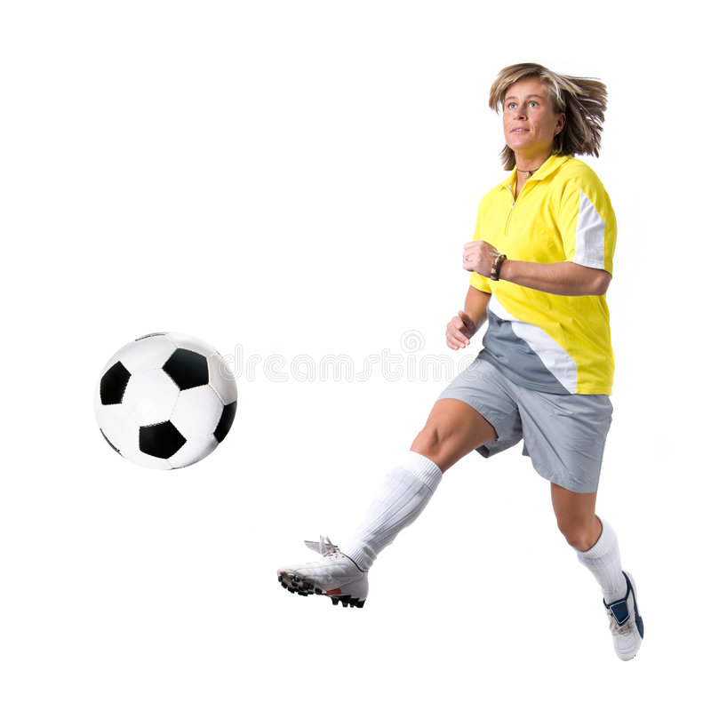 Soccer lady royalty free stock photos