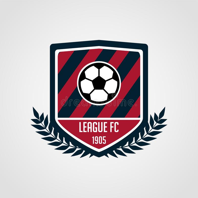 Soccer and football team badge with modern style royalty free illustration