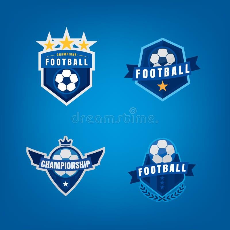 Soccer logo design set,vector illustration royalty free illustration