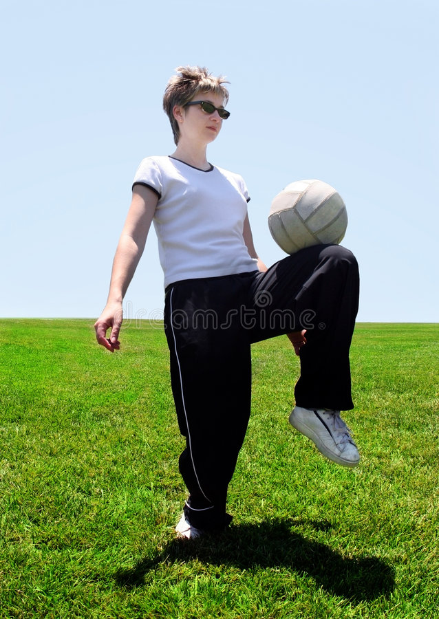 Download Soccer mom stock photo. Image of game, grass, dribble, play - 154812