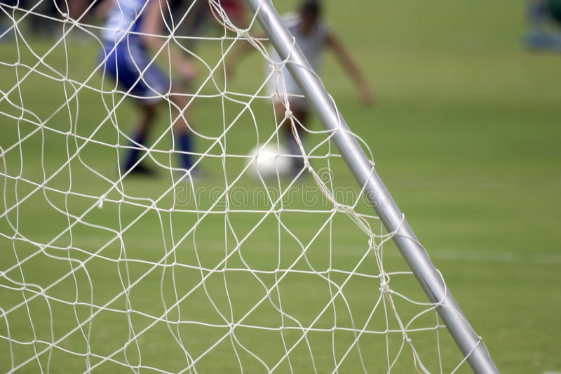 Soccer net stock photos