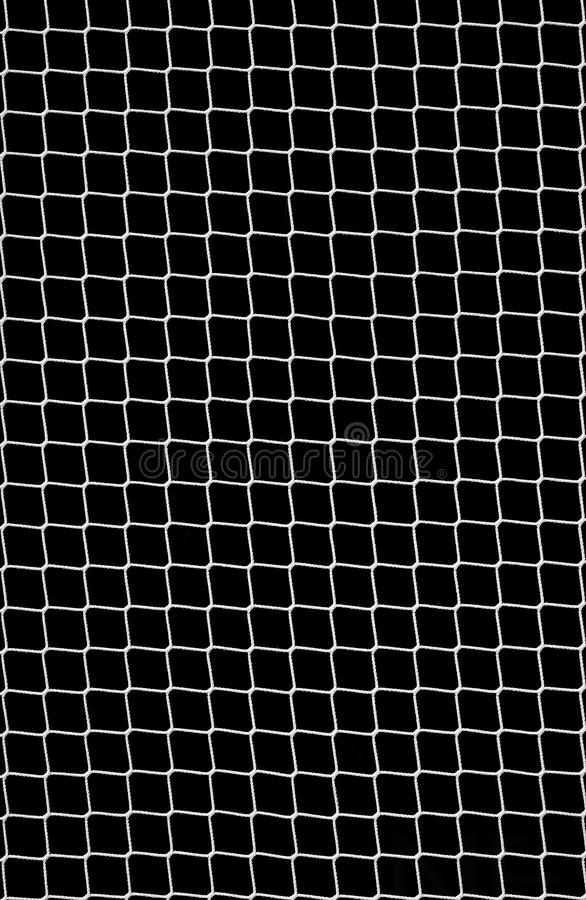 Soccer Net on Black royalty free stock image