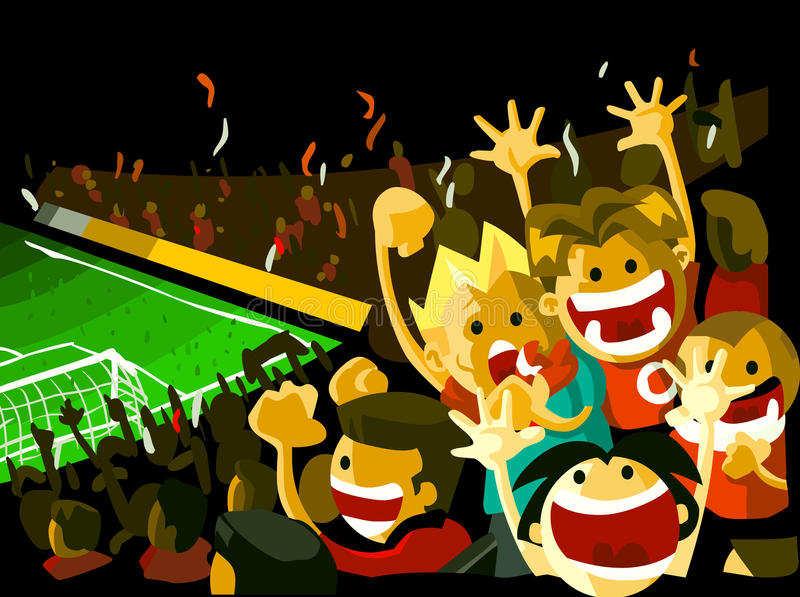 Soccer night match royalty free illustration
